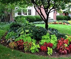Outdoor Flower Garden Ideas Best Landscape Around Trees On Landscaping House