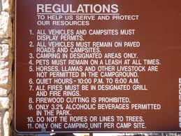 Regulations For The Campground In Mueller State Park