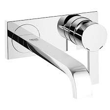 grohe allure 1 2 gpm single handle wall mount bathroom faucet in