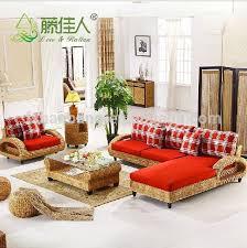 intérieur et canapé intérieur moderne en osier artisanat tissés à la salon canapé