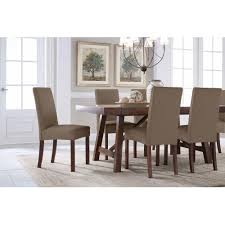 Wayfair White Dining Room Sets by Serta Reversible Microsuede Stretch Fit Slipcover Dining Parsons