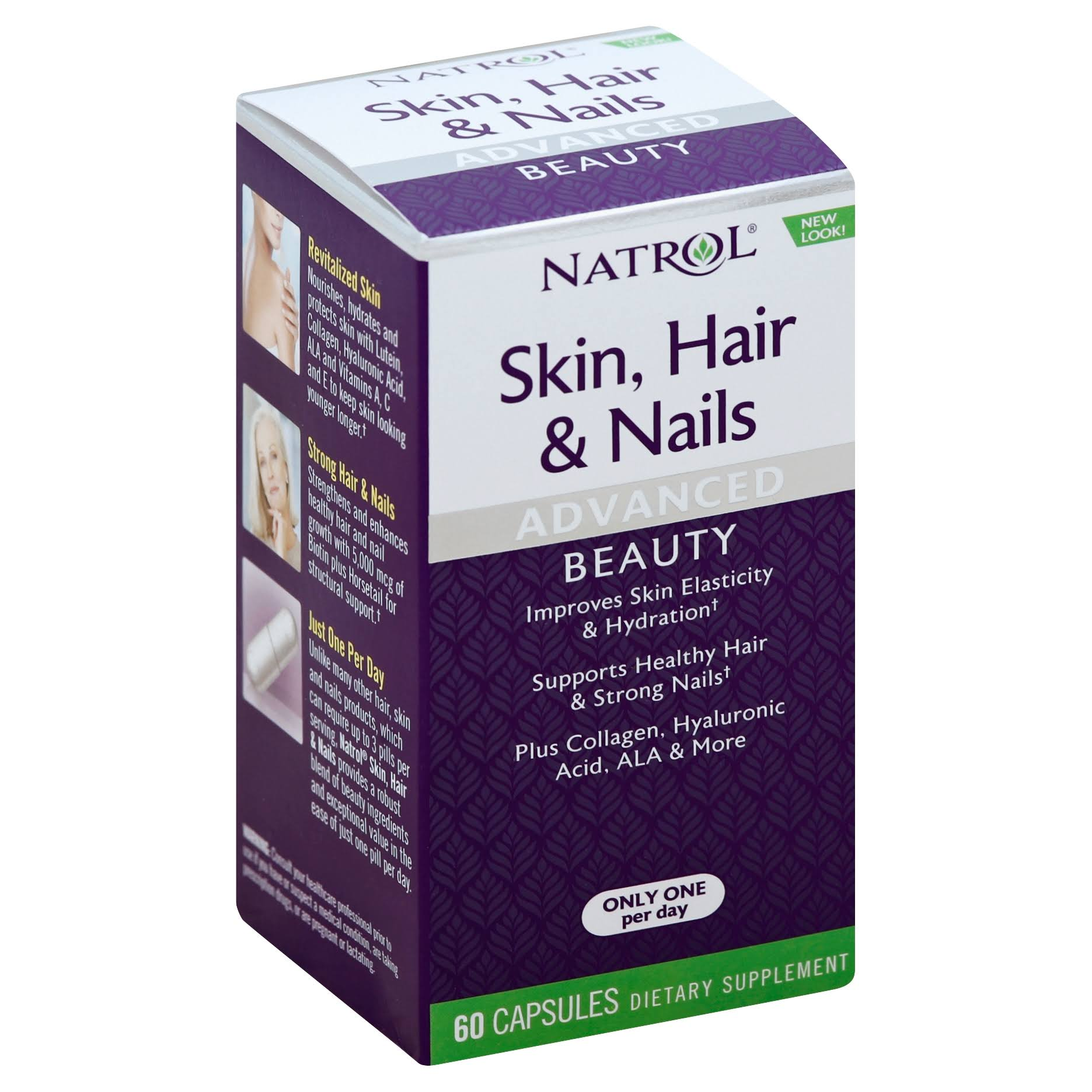 Natrol Skin Hair & Nails - 60 Capsules