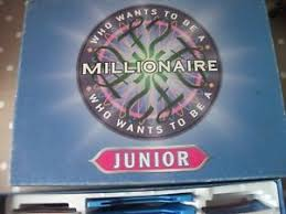 Image Is Loading JUNIOR WHO WANTS TO BE A MILLIONAIRE BOARD