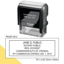 85 Virginia Notary Stamp Virginia Notary Stamp Pre Inked POCKET