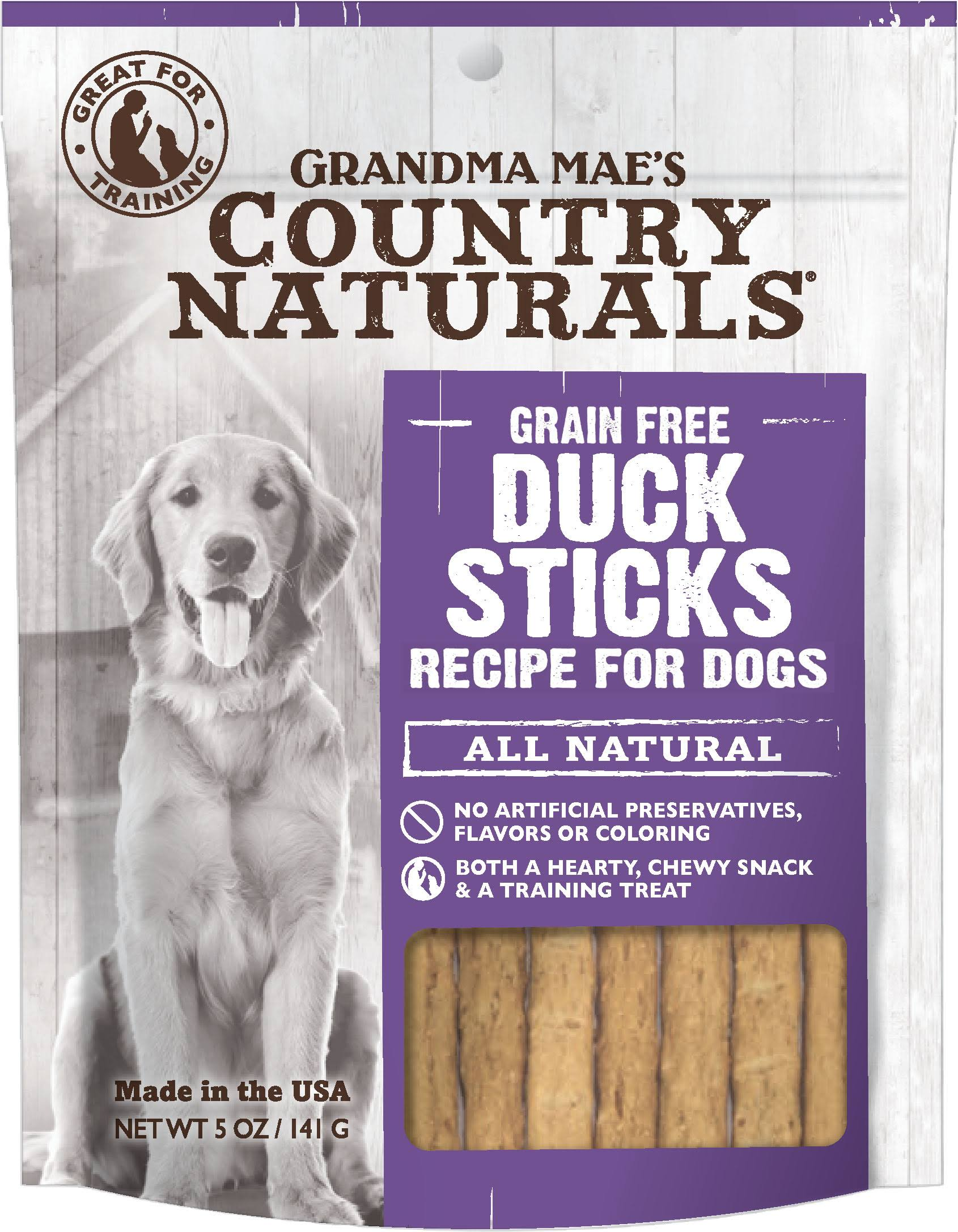 Grandma Mae S Country Nat Country Naturals Dog Treat Duck 5oz