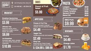 cuisine tv menut displaying digital menu boards with enplug s dsmenu app