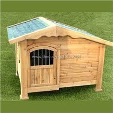 Chalet Style Wooden Dog Kennel With Door By The Cowshed At Pet R