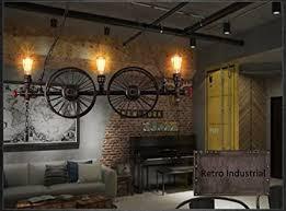 nostalgie retro industrielle pendelleuchte wohnzimmer