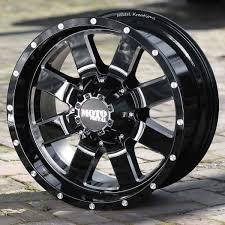100 8 Lug Trucks 1 Inch Black Wheels Rims Moto Metal 962 FORD F250 350 Lug Trucks
