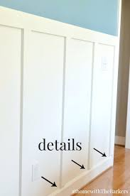 Diy Board And Batten Wainscoting Dining Room Trim Detail