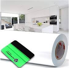 4 59 m 10m x 63cm plotterfolie rakel hochglanz glanz oder matt klebefolie möbelfolie küchenfolie badfolie dekofolie weiß hochglanz glanz