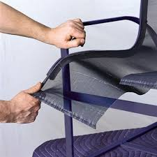 remove the old sling how to repair aluminum patio chairs this