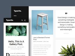 100 Modern Design Blog Typerite Clean Free HTML Site Template By
