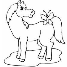 Butterfly Coloring Sheets On Horse With Page