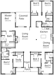 6 Bedroom 3037 Sq Ft W Study Min Extra Space House Plans By Korel Home Designs