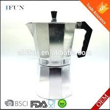 Espresso Coffee Maker Stovetop Parts And Drip With Grinder Imusa Stainless Steel