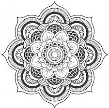 Lotus Flower Mandala Coloring Pages For Adults
