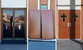 Faux Wood Church Doors