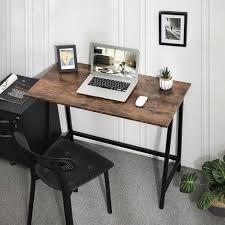 vasagle schreibtisch computertisch homeoffice büro arbeitszimmer wohnzimmer stabil platzsparend einfacher aufbau industrie design 100 x 50 x