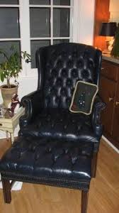 Leather Tufted Chair And Ottoman by 22 Best Chairs Images On Pinterest Tufted Chair Black Leather