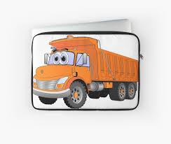 Orange Dump Truck Cartoon