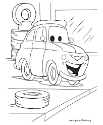 A Nice Coloring Page Of Fiat Classic Italian Car Its Luigi Character From The Cars Movie