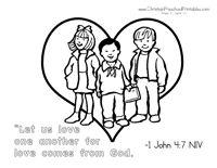 Valentines Day Bible Coloring Page