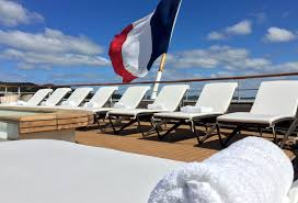 Luxurious Padded Sun Loungers On Board Ponant LAustral