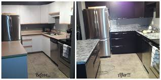 before and after using giani granite countertop paint and nuvo