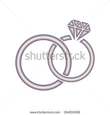 Vector wedding rings icon on white background