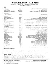 Theater Resume Template 16 Sample Of Acting 20 Film Actor Format 1