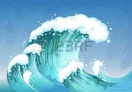 Illustration of a very big wave