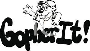 and White Gopher It Royalty Free Clipart Picture