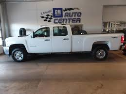 100 Crew Cab Box Truck Laramie Summit White 2012 Chevrolet Silverado 2500HD Used For