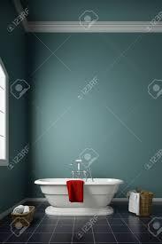 modernes badezimmer mit grüner wand