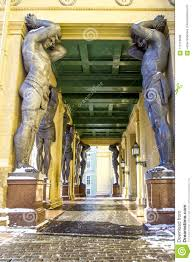 100 Atlant Marble Statues Of S Hold Ceiling Of New Hermitage St