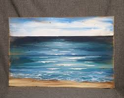 Beach Pallet Art Nautical Decor Painting Rope Accent