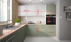 l form küchenzeile bari einbauküche 245x240cm grau signalweiß blassgrün matt lackiert