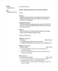 Junior Web Developer Resume Template Resumes 9 Free Word Format