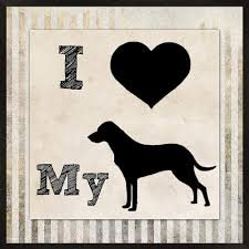 PTM Images Love My Dog Wall Art Black