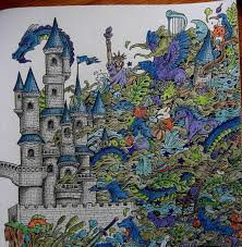 Imagimorphia Blue Pageimagimorphia Imagimorphiacolouringbook For The Best Doodle ColoringAdult ColoringColoring BooksColored