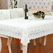 Tablecloth For Oval Table Creamy White Fabric Square And Rectangle Dining Cloth Round Inside Ideas
