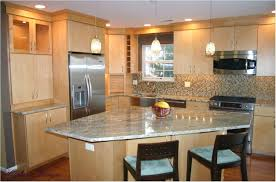 Kitchen Splendid Likable Maple Cabinets Design Ideas For Your Decorations Narrow Interior Modern Eucalyptus Wood