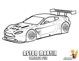 You Can Print Out This Car Coloring Page Now Yescoloring Images Aston Vantage Gt3 C