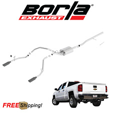 100 Dual Exhaust Systems For Chevy Trucks BORLA SType CatBack Performance 20142018 Silverado