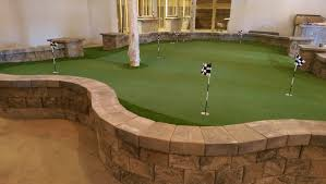 Indoor Putting Green home office modern with puttinggreen