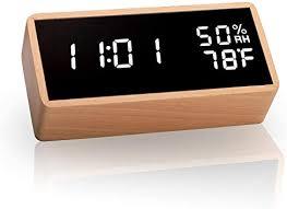 meross led wecker digitaler wecker tischuhr mit akustik