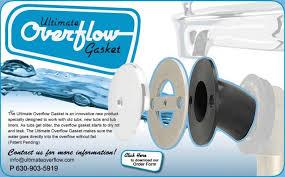 tub overflow gasket