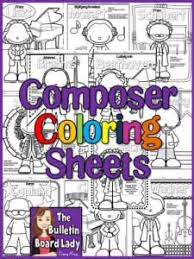 Meet The Composers Coloring Pages These Would Be Great In A Waiting Room Folder