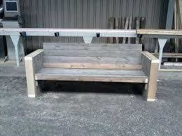Wood Bench With Back Amazing Of Outdoor Benches Backs Reclaimed Pallet Ideas Pallets Slab Legs